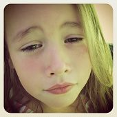 Sweet little Girl sad - With Instagram effect