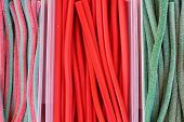 colorful licorice candy background