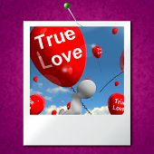 True Love Balloons Photo Represents Couples And Lovers