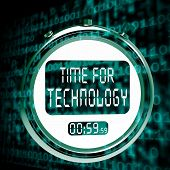 Technology Watch Touch Screen Shows Innovation Improvement And Hi Tech
