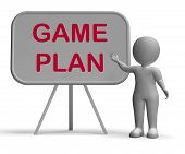 Game Plan Whiteboard Means Scheme Approach Or Planning