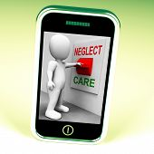 picture of neglect  - Neglect Care Switch Showing Neglecting Or Caring - JPG