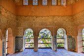 Alhambra Moorish Wall Designs City View Granada Andalusia Spain