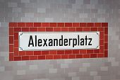 Alexanderplatz underground sign