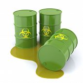 picture of three dimensional shape  - Trio of Biohazard Barrels Three - JPG