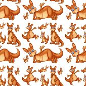 Illustration of seamless kangaroo