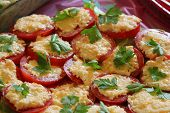 Tomatoes with may and garlic appetizer