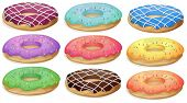 Illustration of a set of donuts