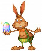 Illustration of an easter bunny