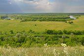 Landscape of river Don in Divnogorie national park, Voronezh region, Russia