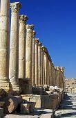 Ancient Columns In Jerash, Jordan