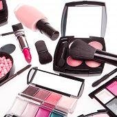 makeup set isolated on white background