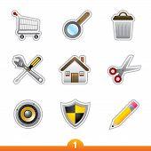 Icon sticker series 1 - web universal