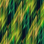 art abstract colorful geometric pattern; tiled background in green, old gold, brown and black colors