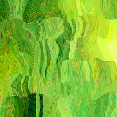 art abstract colorful chaotic waves pattern in Klimt style; background in bright  yellow, green and