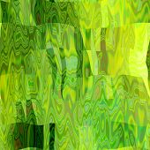 art abstract colorful chaotic waves seamless pattern in Klimt style; background in yellow and green