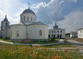 DIVNOGORIE, VORONEZH REGION, RUSSIA - JUNE 8, 2014: View to the Divnogorsky male monastery with the