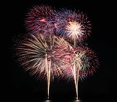Fireworks Or Firecracker Of Colorful Brightly.