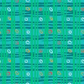 pic of cross-hatch  - Vintage striped seamless pattern with crossing brushed lines and small random dots in multiple bright colors - JPG