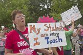 Moral Monday Teachers Protest