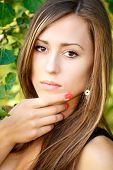Portrait Of A Charming Lady Woman Girl Outdoor