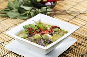 picture of curry chicken  - Green curry Chicken soup Thai spicy food - JPG