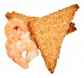 Chinese Sesame Seed Prawn Toast