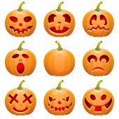 image of jack-o-lantern  - Big collect Halloween pumpkin Jack O - JPG