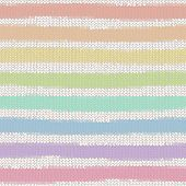 Seamless pattern with colorful rainbow hand drawn knitted stripe