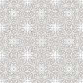 Seamless pattern with mosaic lace ornament