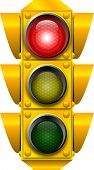 foto of traffic light  - raster graphic depicting a traffic light  - JPG