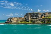 stock photo of san juan puerto rico  - Fort San Felipe del Moro - JPG