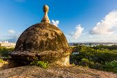 stock photo of san juan puerto rico  - Lookout post at the Fort San Felipe del Moro - JPG