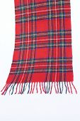 Warm And Soft Red Tartan Scarves
