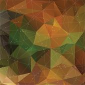 Autumn triangle pattern in dark colors. Vector background for web and mobile design. Corporate style