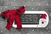 Greeting Card Christmas For Employees And Customers - Red And White - Country Style