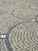 Granite Pavement With Curved Parts