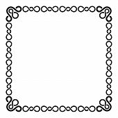 Calligraphic Frame and Page Decoration. Curl Border on Blank White Page. Vector