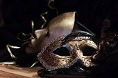 Old Gold Venetian Masks