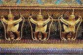 Golden Garuda At Wat Phra Kaew