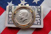 John F. Kennedy Coin Money Clip