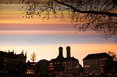 Munich City Scape - Sunset Scenery