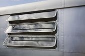 Caravan window, close-up