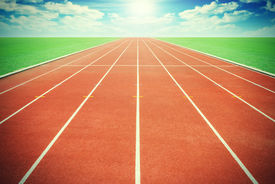 picture of olympiade  - The Running track and sky  - JPG