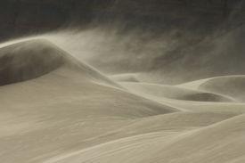 stock photo of landforms  - Sandstorm in Desert - JPG