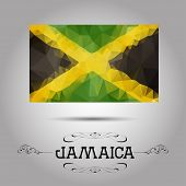 Vector geometric polygonal Jamaica flag.