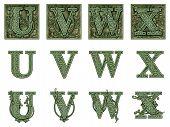 Money Alphabet U To X