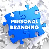 Personal Branding on Blue Puzzle.