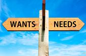 Wants versus Needs messages
