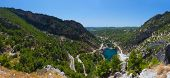 Green canyon at Turkey - nature travel background